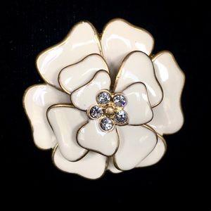 :: Stella & Dot Retired Enamel Flower Brooch